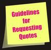 Quoting Guidelines